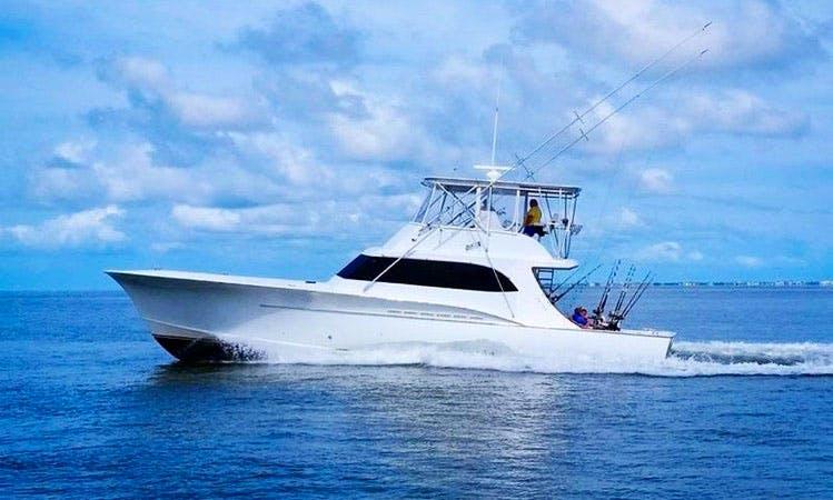 "Hatteras Fishing Charter On 57ft ""Predator"" custom Carolina Yacht"