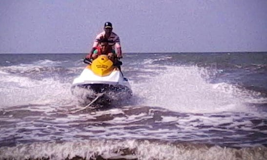 Jet Ski Ride At Revdanda Beach. Alibag, Maharashtra