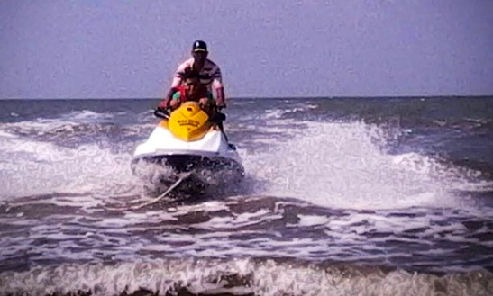 Jet Ski Ride At Revdanda Beach. Alibag, Maharashtra