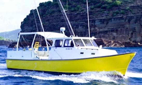 Enjoy Fishing In Saint Paul, Antigua And Barbuda On 40' Overdraft Cuddy Cabin