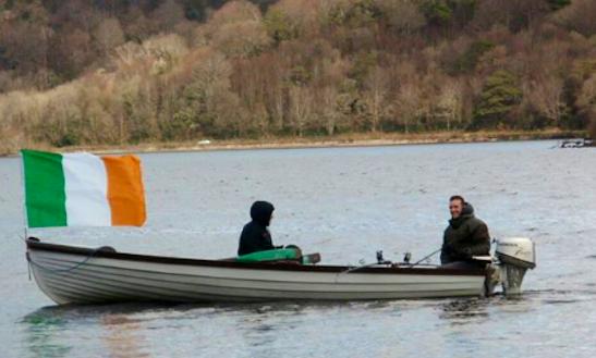 Go Fishing With Friends On Dinghy In County Sligo, Ireland
