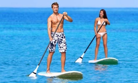 Enjoy Stand Up Paddleboarding in Ajman, United Arab Emirates