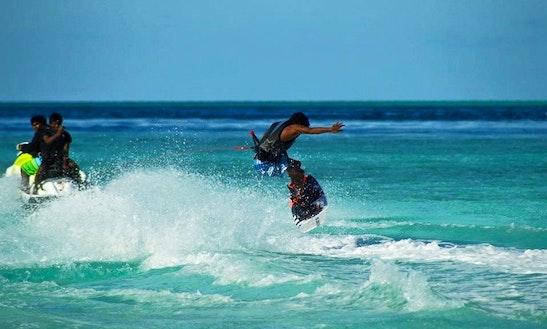 Enjoy Wakeboarding In Dhiffushi, Maldives