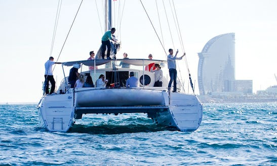 Luxury Nautitech 40 Catamaran Exclusive Cruises For Up To 23 Person In Barcelona, Spain