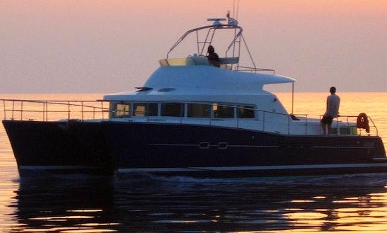 43' Power Catamaran Charter In Firostefan