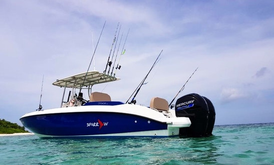 Enjoy Fishing In Dharavandhoo, Maldives On Center Console