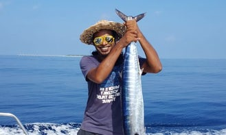 Go Fishing with this Fiber Cuddy Cabin for 15 People in Malé, Maldives