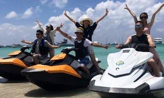 High-speed Jet Ski on Maldivian waters!