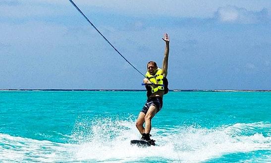 Enjoy Wakeboarding In Thoddoo, Maldives