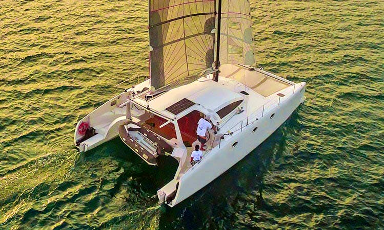 Stealth 38ft Catamaran for rent in Krabi, 12 guests for a day / 6 for a night
