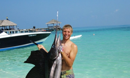 Enjoy Fishing In South Ari Atoll, Maldives On A Bowrider