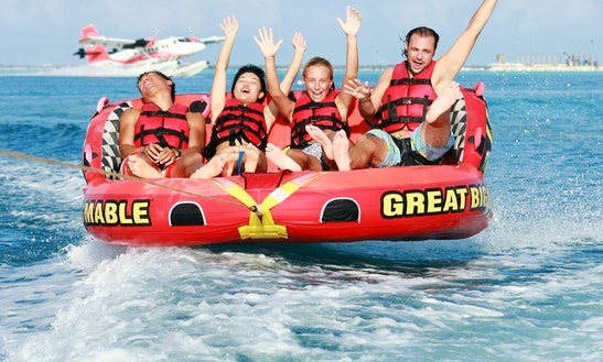 Enjoy Tube Rides In South Ari Atoll, Maldives On A Bowrider