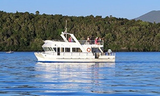 Charter 50' Super Cat Power Catamaran In Taupo, New Zealand