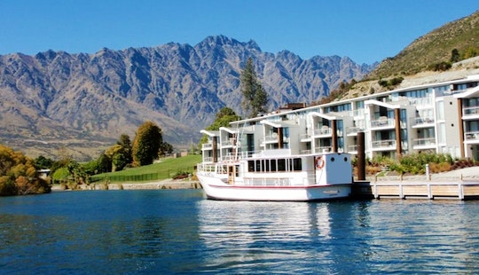 Queenstown Lake Charter On Traditional English Motor Boat