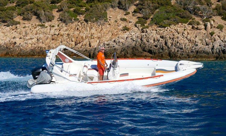 Rent 23' Mango Rigid Inflatable Boat in Platis Gialos Sifnos, Greece