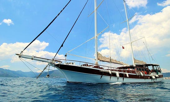Captained Charter 105ft Sailing Gulet In Marmaris, Turkey