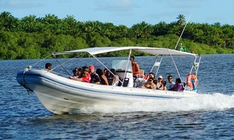 Have fun with your friends in Bahia, Brazil! Book a RIB Boat!