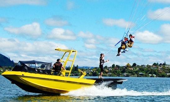 K-jet Parasailing Tours In Rotorua, New Zealand