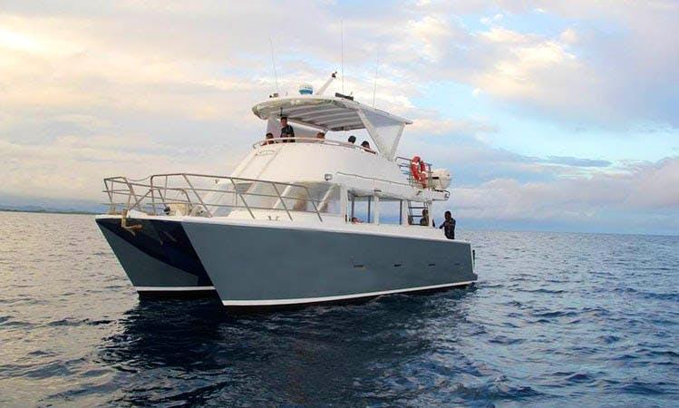 Charter 40' Power Catamaran in Pacific Harbour, Fiji