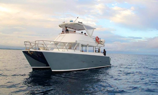 Charter 40' Power Catamarn In Pacific Harbour, Fiji