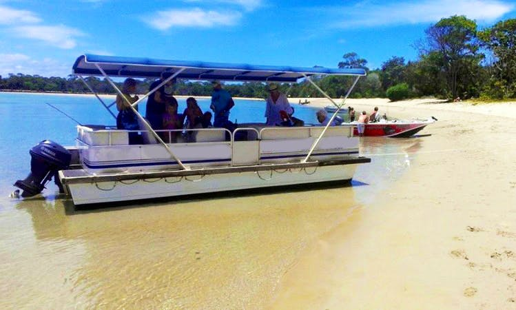 Explore Noosaville, Australia on 32ft BBQ Pontoon