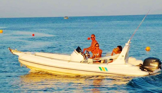 Rent A 18' Rigid Inflatable Boat In Dassia, Greece