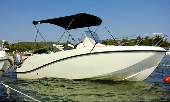 Rent Quicksilver Activ 555 Boat In Chalkidiki