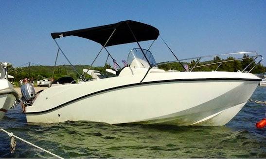 Rent Quicksilver Activ 555 Boat In Chalkidiki