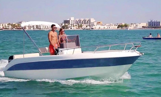 Rent 22' Center Console In Porto Cesare, Puglia