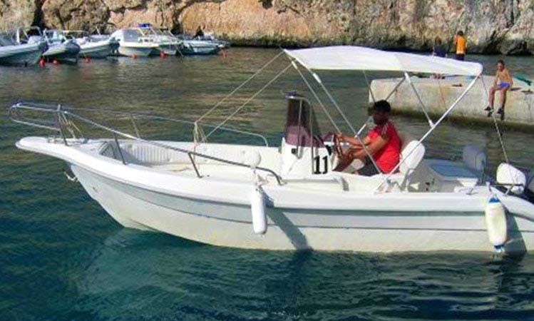 """Rent """"Hull"""" Power Boat for 7 People in Castro, Puglia"""