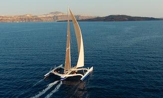 Orma60 Sailing Trimaran Rental in Santorini
