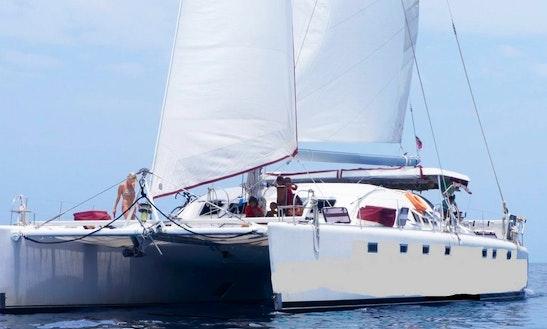 Charter 54' Cruising Catamaran In San Blast Island, Panama