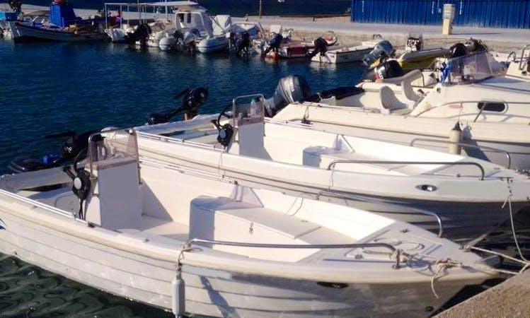 Rent a Center Console for 5 People in Paros, Greece