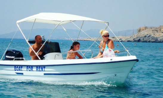 Center Consoled Boat Rental In Rhodes