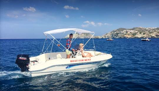 Covered Boat Rental In Agia Pelagia, Greece For Up To 5