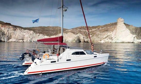 Captained Charter On 38' Cruising Catamaran In Santorini, Greece