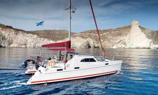 Captained Charter On 38' Cruising Catamaran In Santorini, Greece