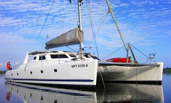 50 Ft Voyage Power Catamaran Charter In Zanzibar