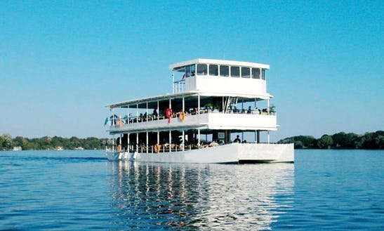 Enjoy Cruising In Livingstone, Zambia On 70' African Queen Cruising Catamaran
