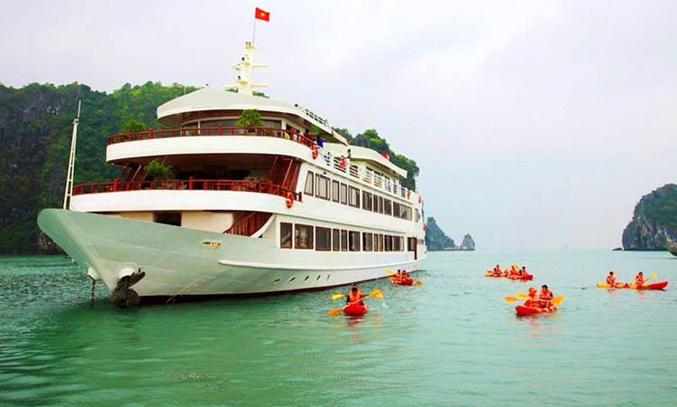 Halong Bay Cruises onboard a newly built Junk Boat