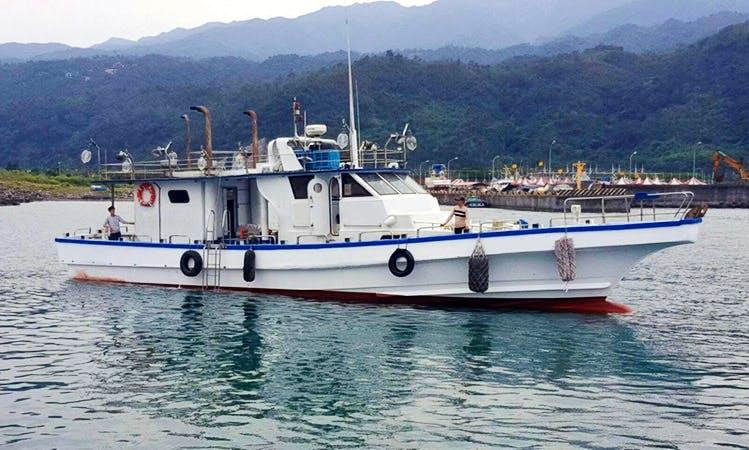 Enjoy Fishing in Toucheng Township, Taiwan on 72' Head Boat