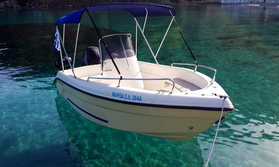 Rent 16' Blue Water 480 Center Console In Desimi, Greece