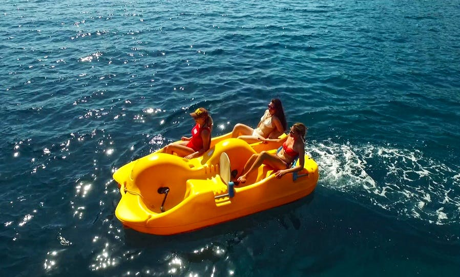 Rent 10' Pedal Boat for fun in Desimi, Greece