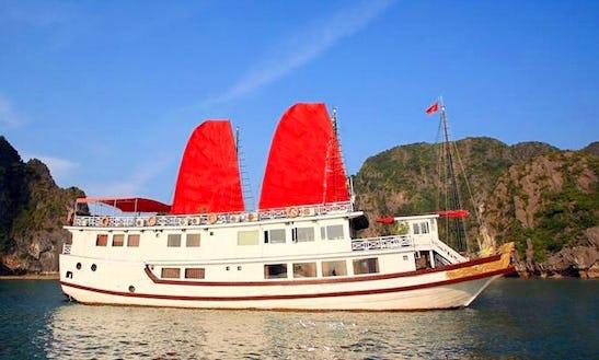 Enjoy Cruising In Thành Phố Hạ Long, Vietnam On Sun Legend Passenger Boat