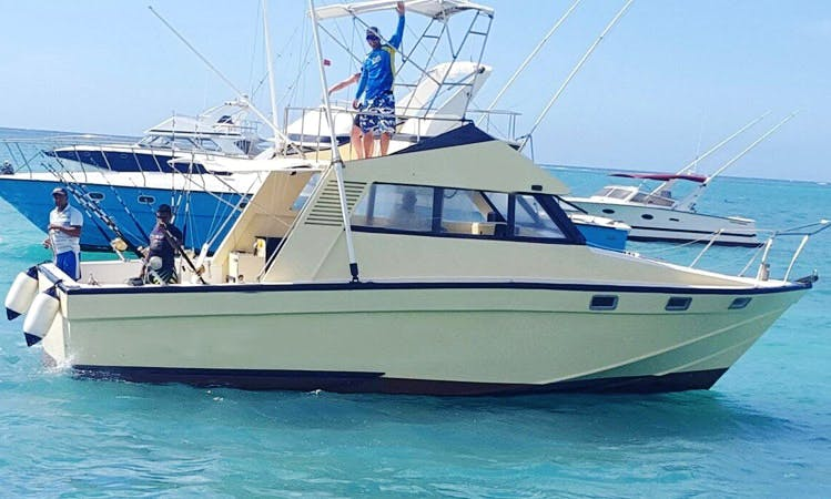 Fishing in Trou-aux-Biches, Mauritius with Captain Jerome