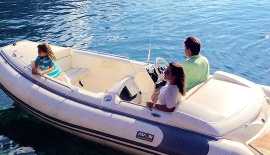 15' Avon Seasport Rib Rental In Illes Balears, Spain