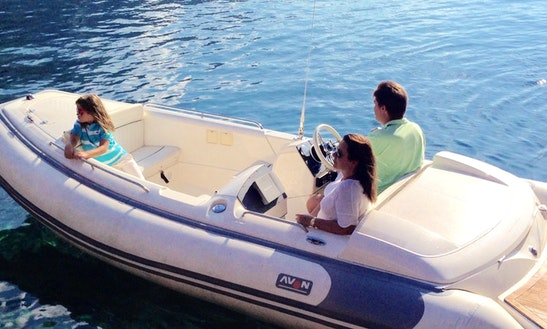15' Avon Seasport Rib Rental In Illes Balears, Spain