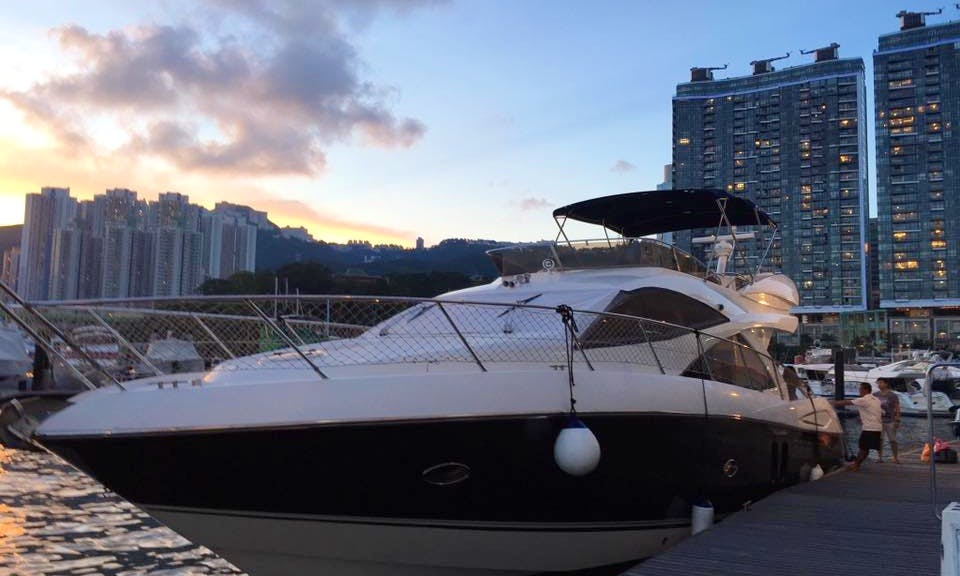 Charter a Beautiful 50' Sunseeker Motor Yacht in Hong Kong Island
