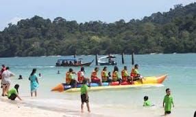 Amazing 7 People Banana Boat Rides in Langkawi, Malaysia
