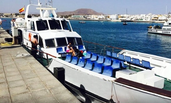 Ferry Boat In Corralejo (ferry To Lobos Island)